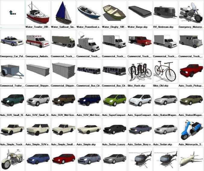 Sketchup Transportation 3D models download