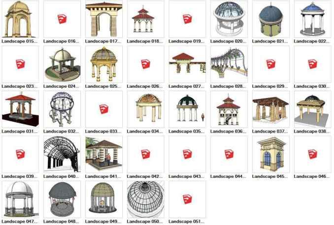 European Pavilion 3D Models-Sketchup 3D Models