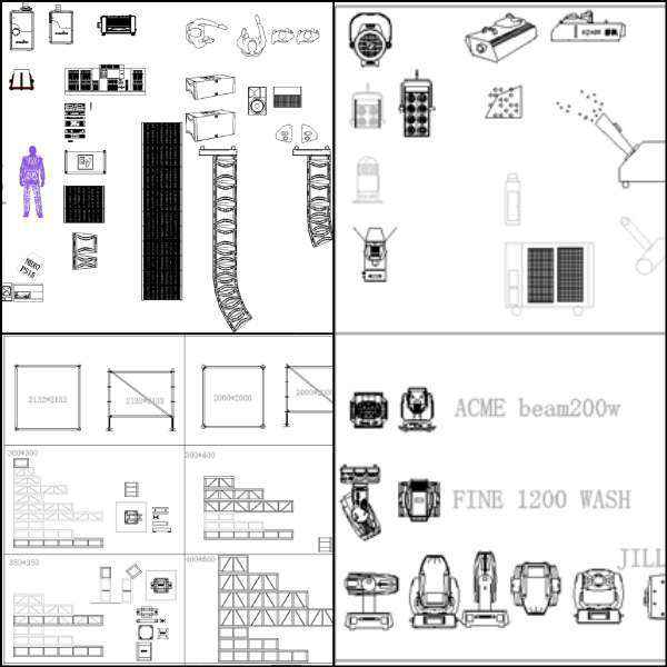 ★【Auditorium ,Cinema, Theaters CAD Blocks-Stage Equipment CAD Blocks  V 2】@Cinema Design,Autocad Blocks,Cinema Details,Cinema Section,Cinema  elevation