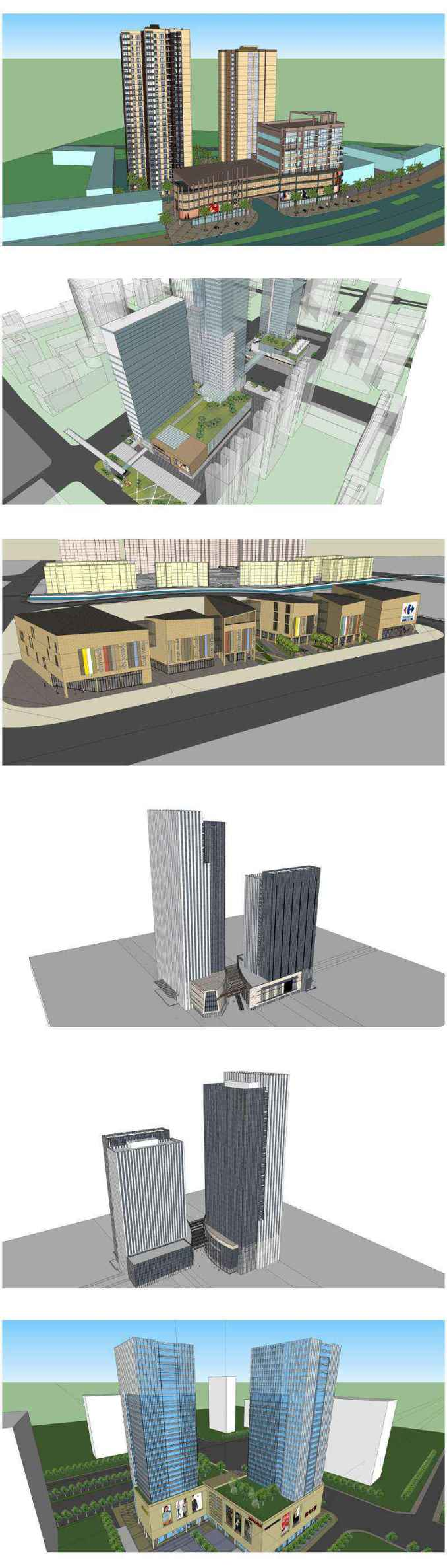 ★Best 50 Types of City Design,Commercial Building Sketchup 3D Models Collection