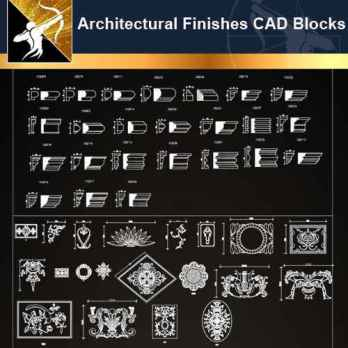 ★【Architectural Finishes CAD blocks】@Autocad Decoration Blocks,Drawings,CAD Details,Elevation