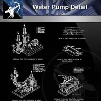 【Architecture CAD Details Collections】Water Pump CAD Details