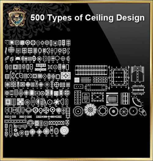 500 Types of Ceiling Design CAD Blocks - Free CAD Download World-Download  CAD Drawings