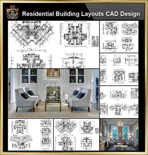 ★【Over 58+ Residential Building Plan,Architecture Layout,Building Plan  Design CAD Design,Details Collection】@Autocad Blocks,Drawings,CAD
