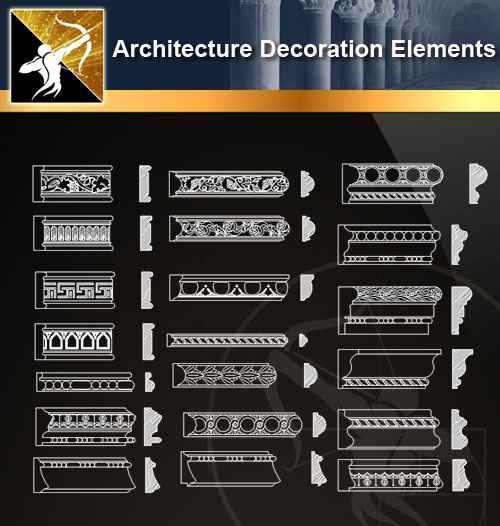☆【 Free Architecture Decoration Elements V 8】@Autocad Decoration