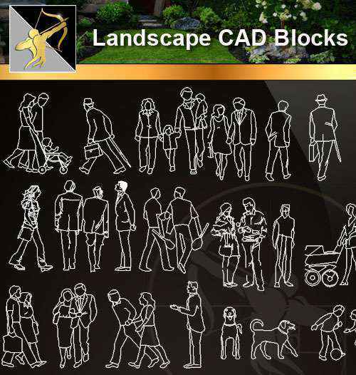 ★【 People Blocks】@Autocad Blocks,Drawings,CAD Details,Elevation - Free CAD  Download World-Download CAD Drawings
