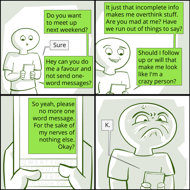 One Word Text Messages