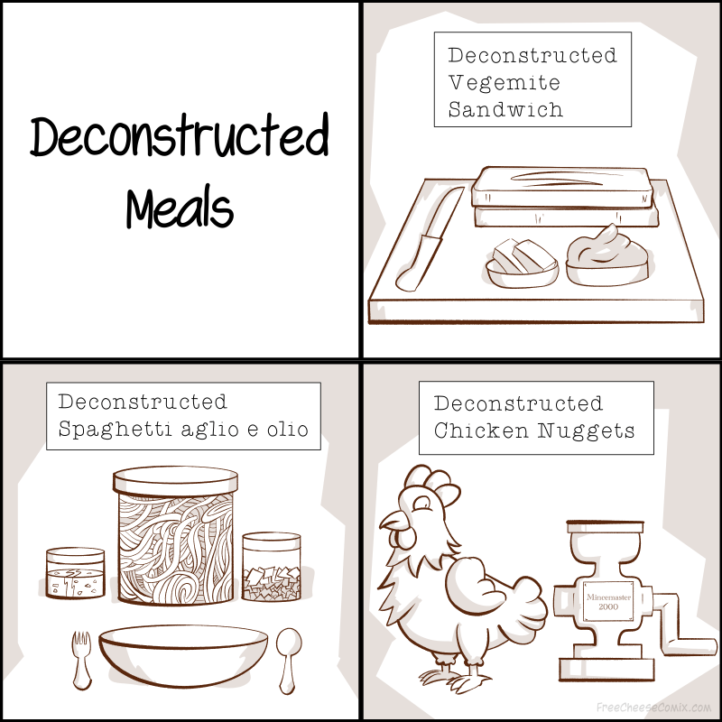Deconstructed Meals Are Just So Weird