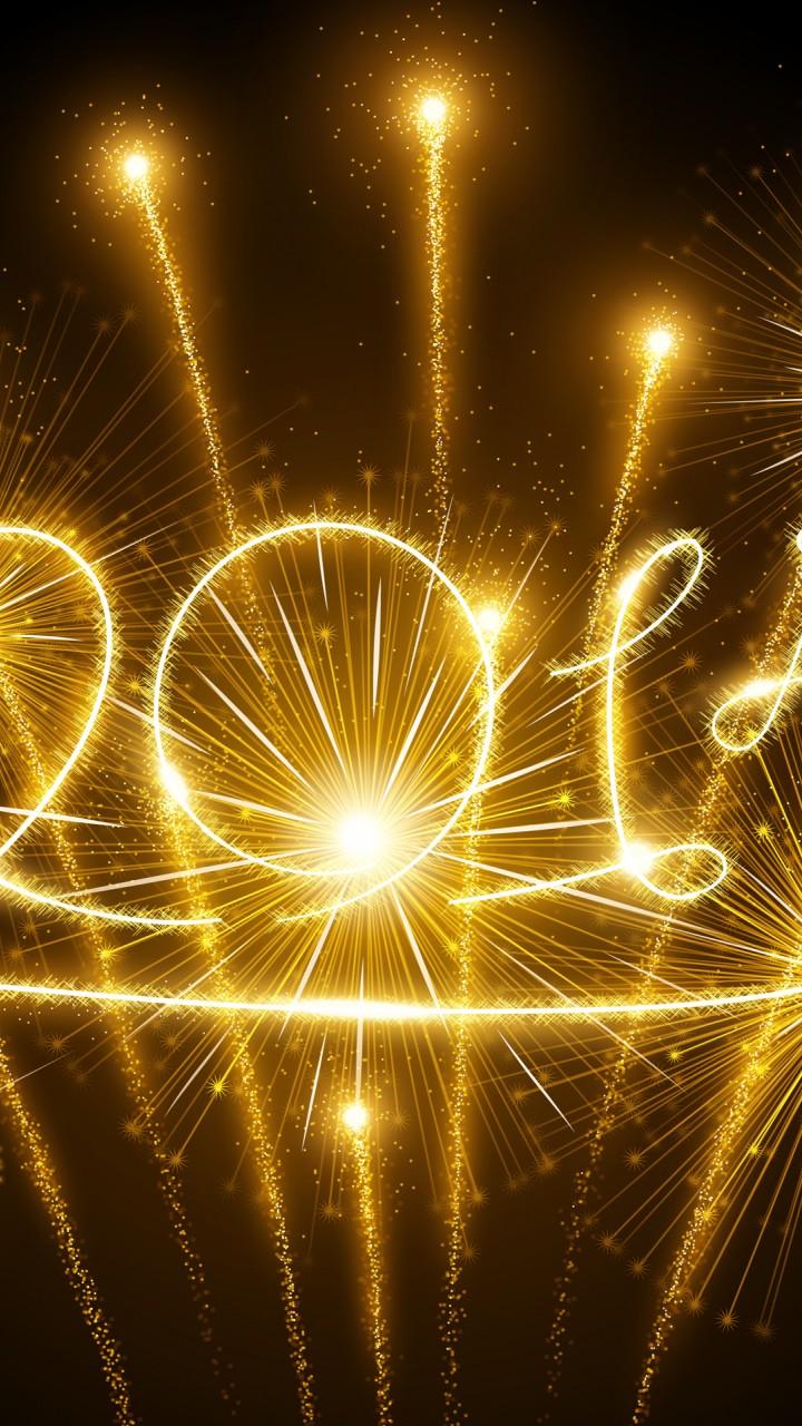 Cute Santa Phone Wallpaper Happy New Year 2015 Wallpaper Freechristmaswallpapers Net