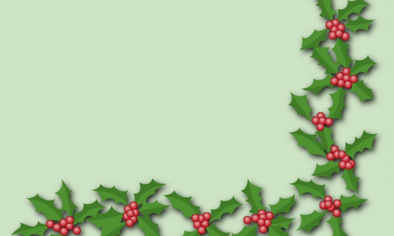 Happy New Year Iphone Wallpaper Holly Trim Wallpaper Freechristmaswallpapers Net