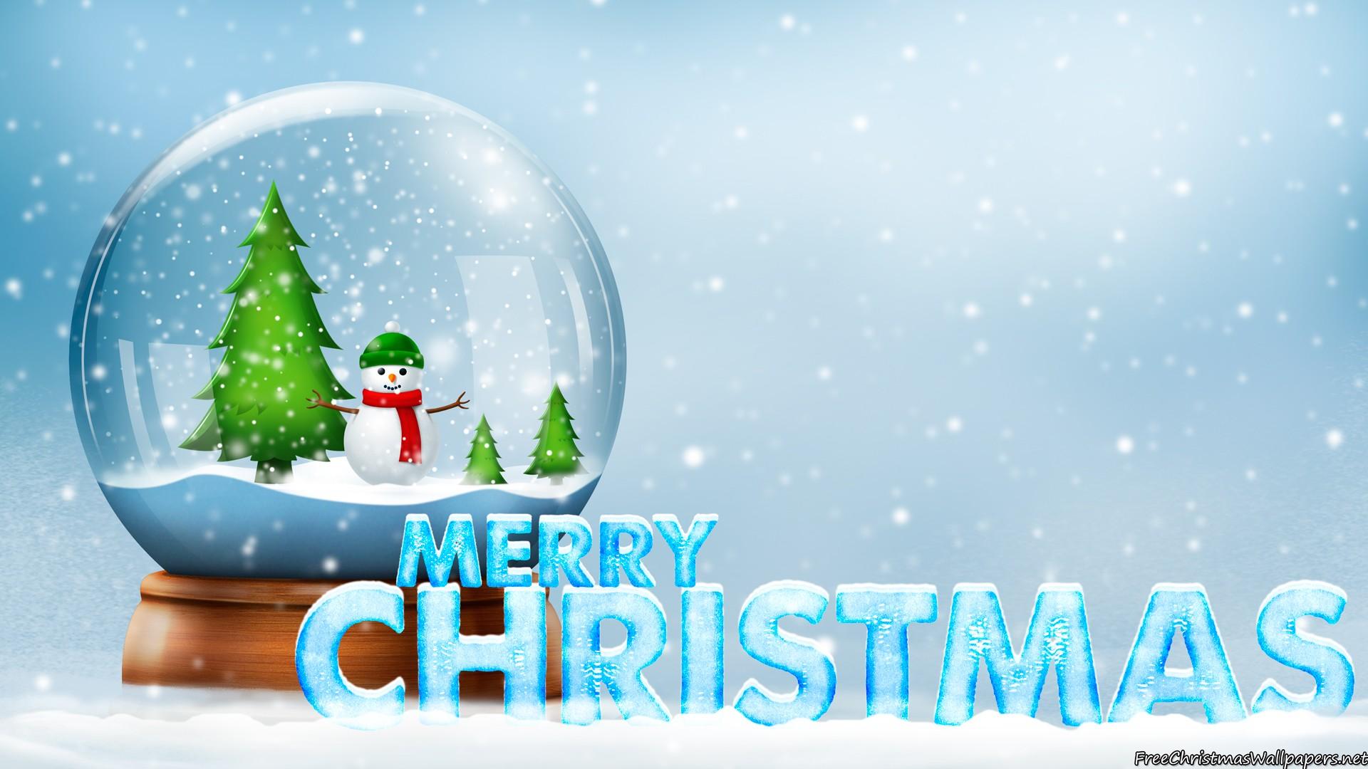 Free Xmas Wallpapers Animated Snow Globe Merry Christmas Wallpaper