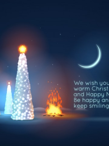 Xmas Wallpaper Iphone Warm Christmas Night Wallpaper Freechristmaswallpapers Net