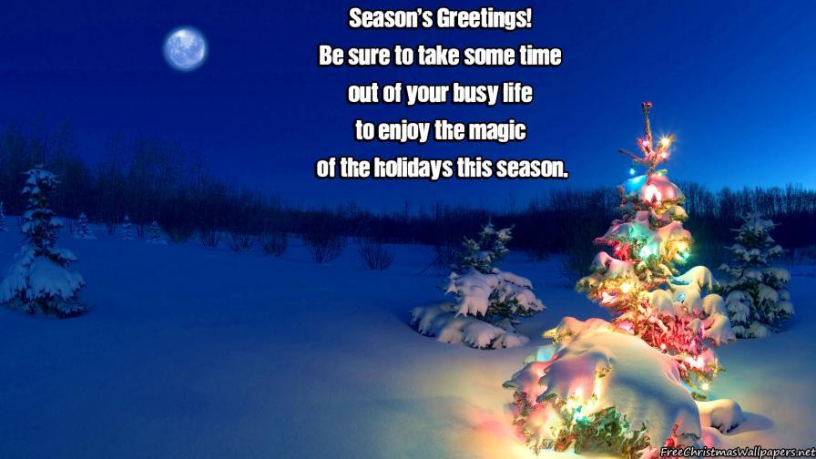 Christmas Seasons Greetings Wallpaper