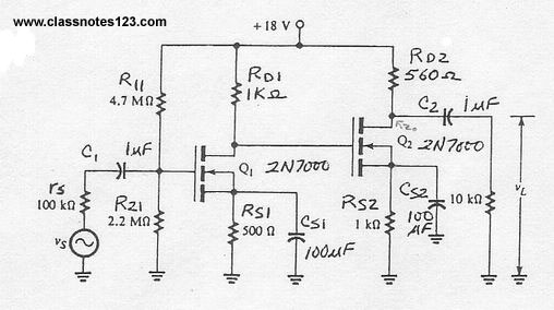 Multistage Enhancement Mode MOSFET Amplifier Lab