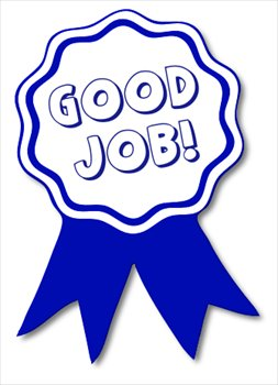 free good-job-blue-ribbon clipart