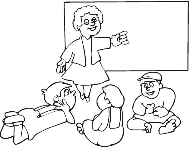 Teacher And Student Coloring Sheet Coloring Pages