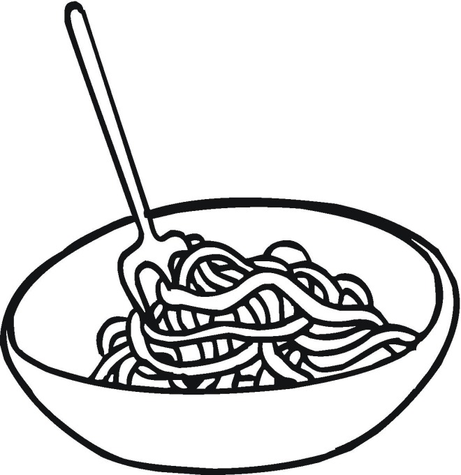 spaghetti and meatballs coloring page