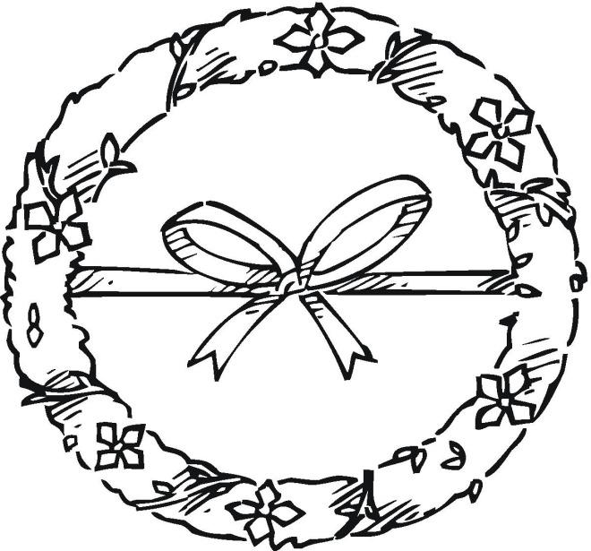 Laurel Wreath Coloring Page