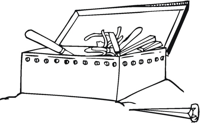Printable Tool Box Page Coloring Pages