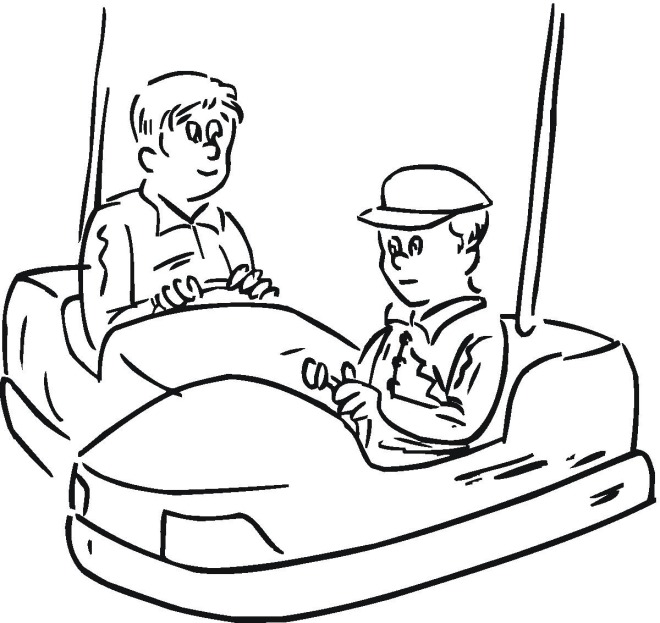 Free coloring pages of fun fair