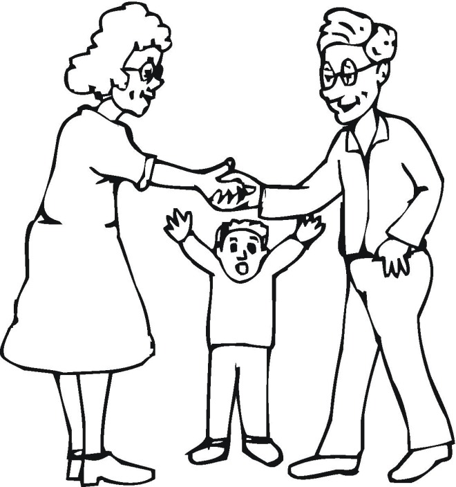 Free Family Coloring Pages