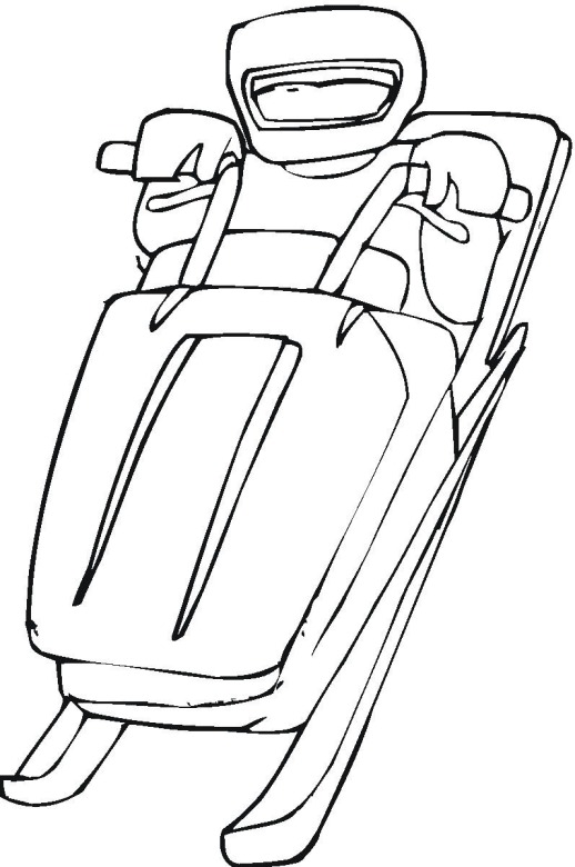 Free coloring pages of snowmobiling