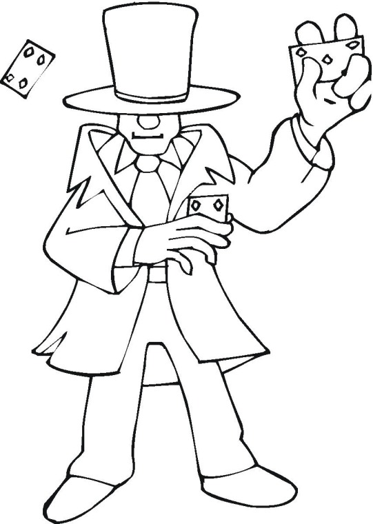 Coloring Page Magician Img 18299 Picture
