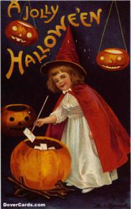Vintage Halloween postard