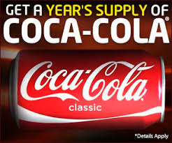 WIN A YEARS SUPPLY OF COKE