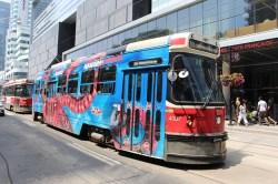 Toronto transit service ttc streetcar for a business trip