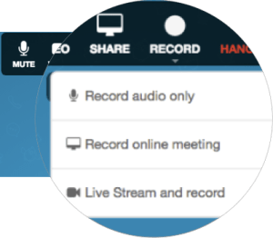 record meetings , record conference calls , record online meeting