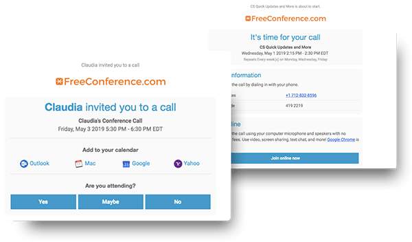 Setup Recurring Online Meetings | FreeConference com