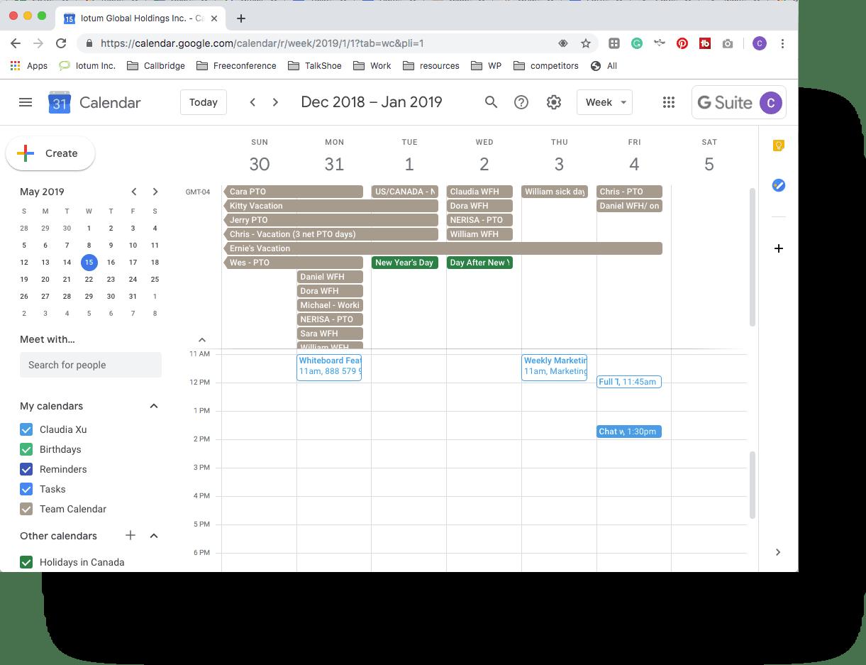 freeconference-Google calendar