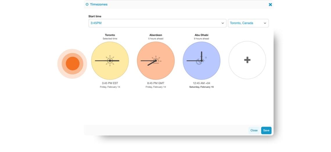 client presentation-timeZone