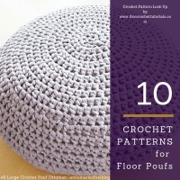 10 Crochet Patterns for T-Shirt Yarn Floor Poufs  Free ...