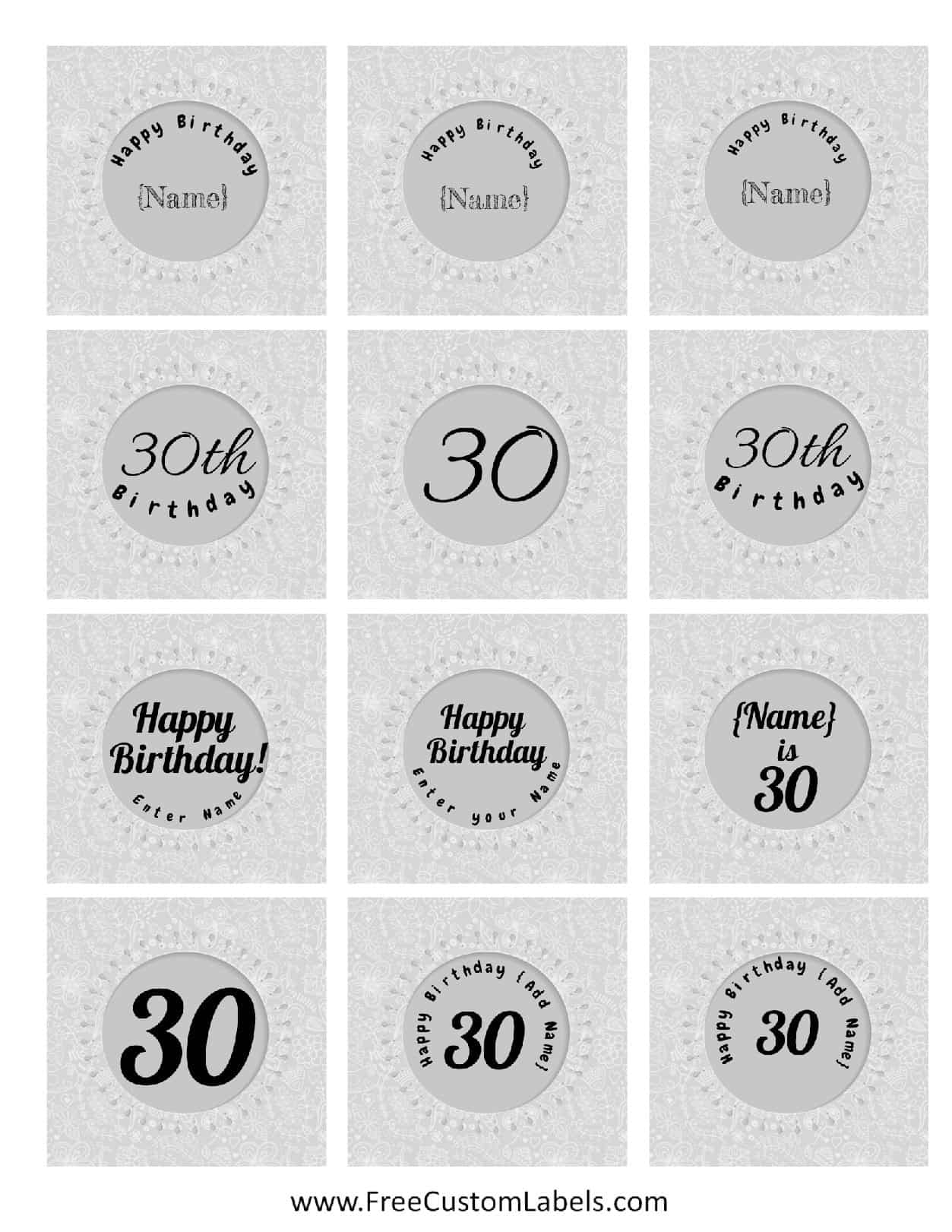 online labels template