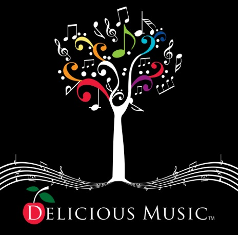 Delicious Music Color on Black