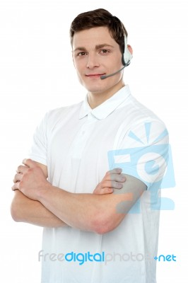 Customer Support Male Executive Stock Photo  Royalty Free Image ID 100102035