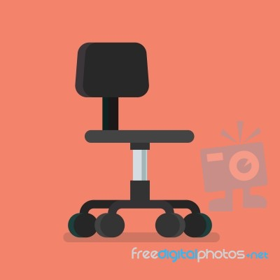 office chair illustration la z boy computer stock image royalty free id 100581050