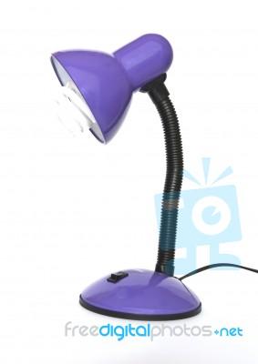 Purple Desk Lamp Stock Photo  Royalty Free Image ID 10034615