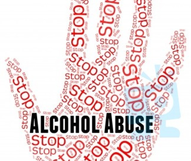 Stop Alcohol Abuse Shows Treat Badly And Abused Stock Image