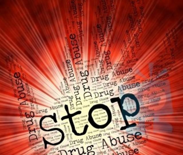 Stop Drug Abuse Indicates Drugs Rehabilitation And Abused Stock Image
