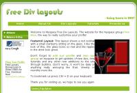 Free MySpace div layouts