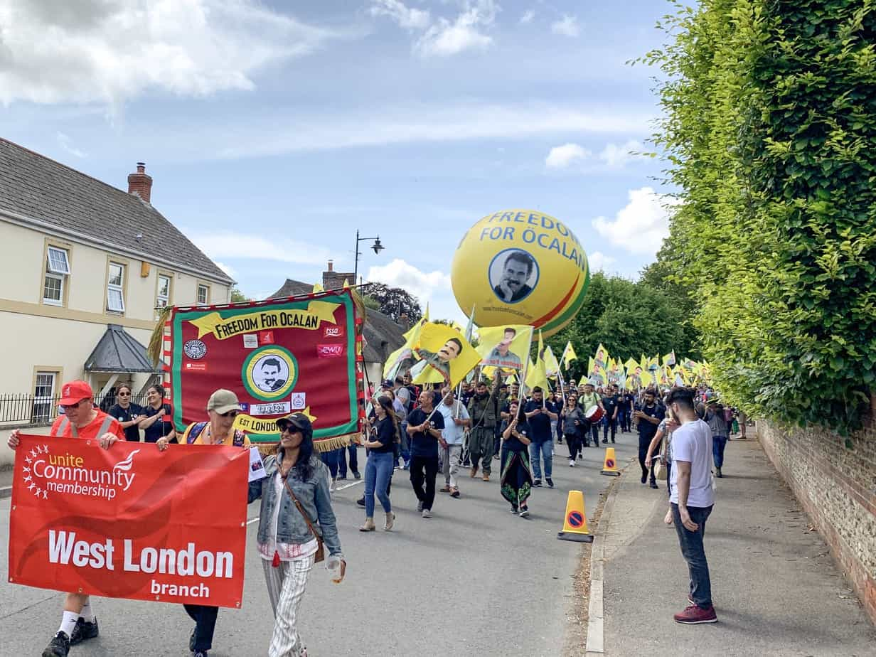 Tolpuddle Martyrs Festival Freedom for Ocalan 2019