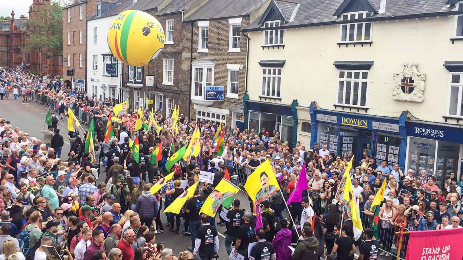 Durham Miners Gala 2019 Freedom for Ocalan