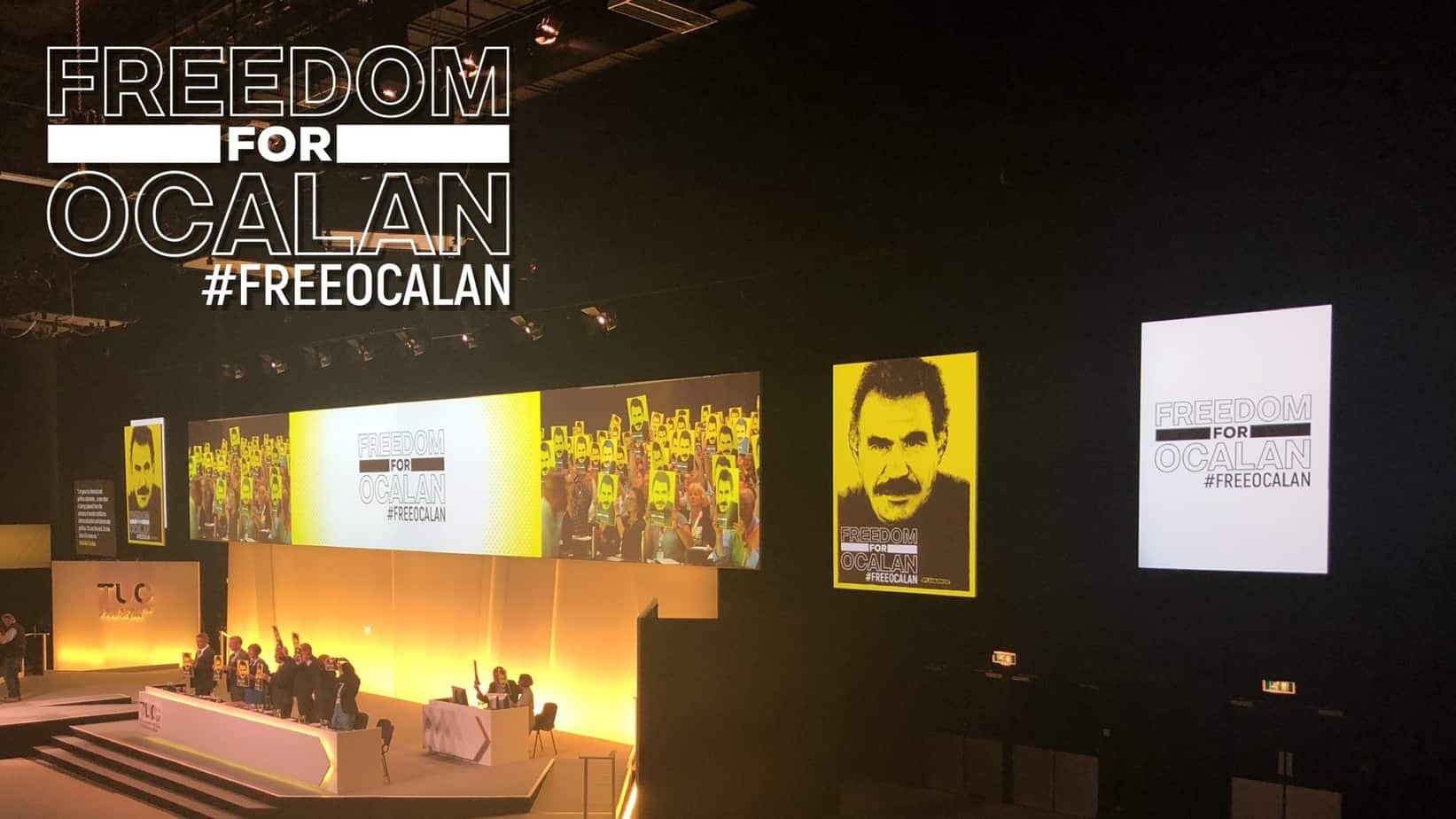 TUC Congress 2019 portfolio image solidarity action freedom for ocalan
