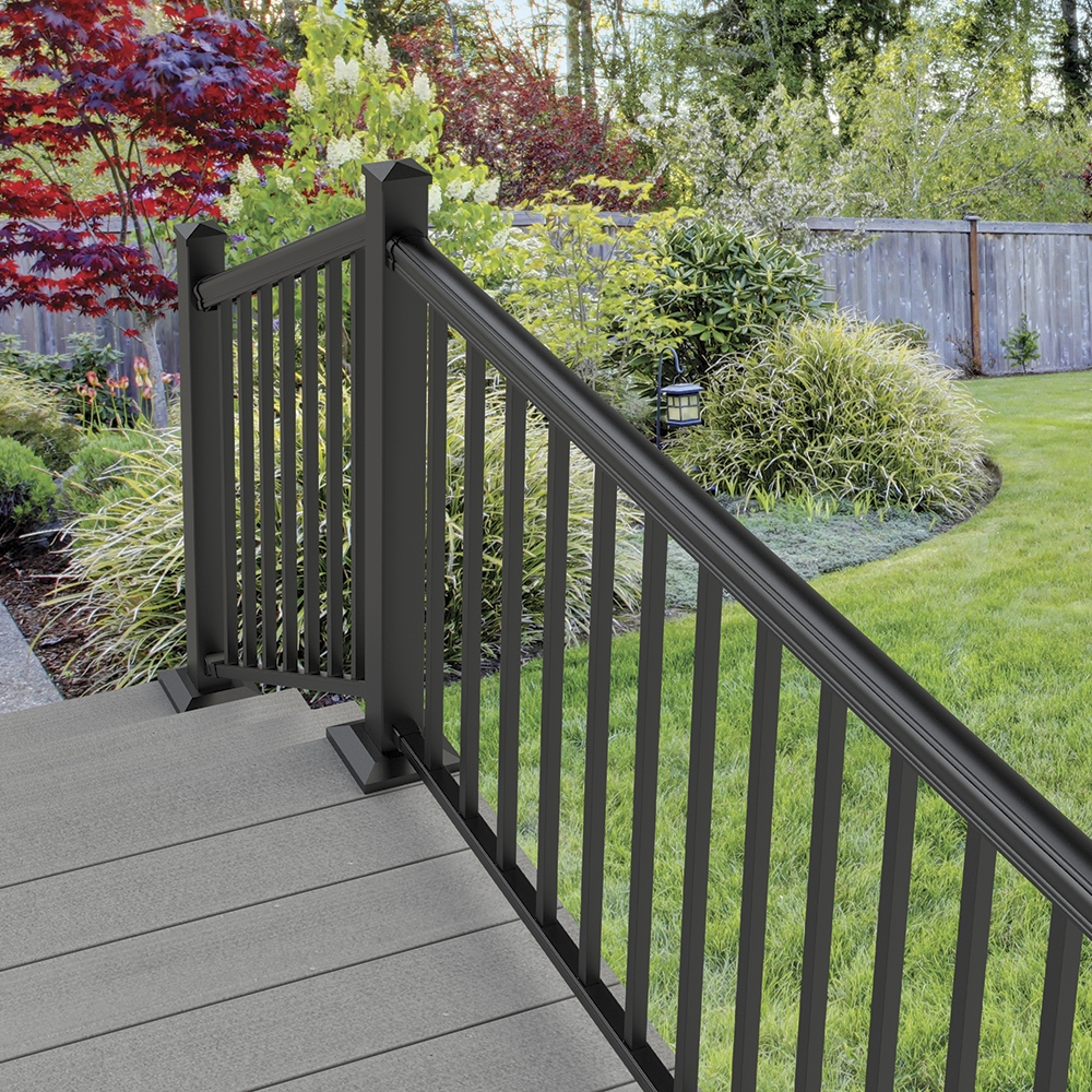 Cambridge Mix N Match Ready To Assemble Aluminum Stair Rail Kit   Installing Aluminum Stair Railing   Baluster   Deck Stair   Balcony Deck   Railing Systems   Pressure Treated