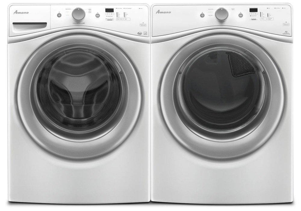 medium resolution of amana 4 8 cu ft front load washer and 7 4 cu ft electric dryer white freedom rent to own