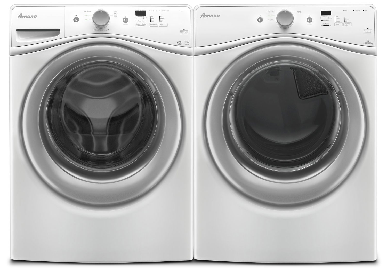 hight resolution of amana 4 8 cu ft front load washer and 7 4 cu ft electric dryer white freedom rent to own