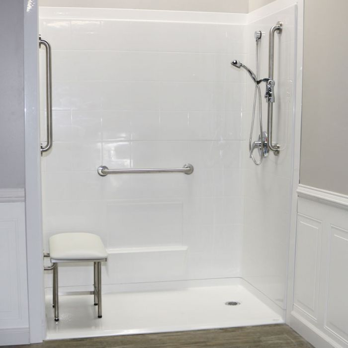 Freedom Accessible Shower Right Drain 5 Piece 60 X 31